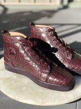 Mens Christian Louboutin Louis Flat Croco Size 44 Us 11 $8000 Usd Retail Oxblood