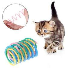 5pcs Cat Toys Colorful Plastic Spring Bounce Pet Kitten Random Color Interactive