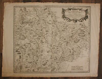 "Original Kupferstichkarte ""Leuci Archidiaconnes de Toul,de Ligny"" 1656 sf"