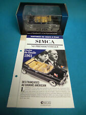 Cars of heads of state simca chambord v8 presidensielle 1/43 edition atlas