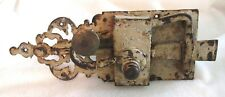 1830s Antique Early American Door Latch, Shabby Chic, Hand iron work