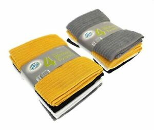 4 Pack Large Microbrite Kitchen Tea Towel Set Dish Drying Absorbent 4 Colours