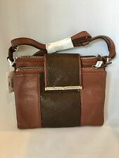 BRIGHTON NWT ACOMA BROWN DOUBLE ZIP LEATHER ORGANIZER PURSE