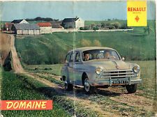 Renault Domaine 1957-58 French Market Sales Brochure Fregate