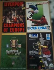 More details for 4 liverpool cup final programmes champions of europe 1977  fa cup 1986 2001