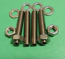 Weber DCNF Carburettor Velocity Trumpet Stack STAINLESS Studs Nuts Twin Carb VW