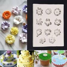 3D Flower Silicone Mold Fondant Cake Decorating Chocolate Sugarcraft DIY Mould.M