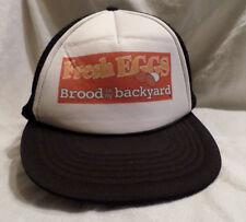 Rare Vintage Fresh Eggs Brood In My Backyard Cap KC Snapback Hat Looks Unworn