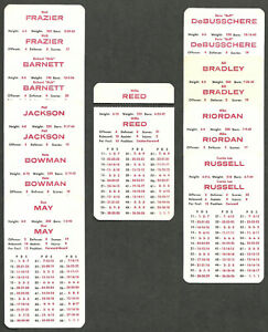 New York Knicks APBA 10 Card Team Set 1968-69 Season Willis Reed Bill Bradley