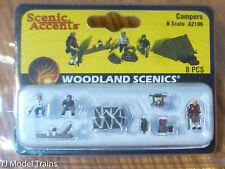 Woodland Scenics #2199 (N Scale) Figures -- Campers & Accessories