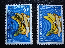 cameroon - stamp yvert and tellier n° 449 x2 obl (A33) stamp cameroon (V)