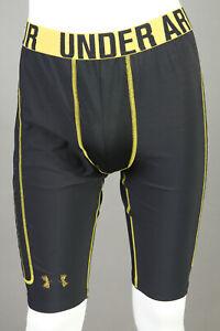 Men's Under Armour Padded Baseball Sliding Shorts ~ Black/Gold ~ Men's Small