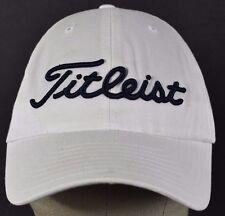 White Titleist Golf Branden embroidered baseball hat cap adjustable strap