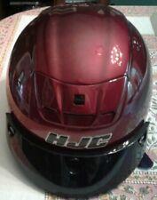 HJC Cruiser Motorcycle Half Helmet Wine Red DOT