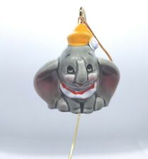 Vintage Disney Dumbo Elephant Ceramic Christmas Ornament Made In Japan Euc