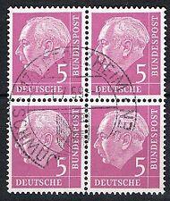 Bund 179 x W v Viererblock, gestempelt, Mi. 15,-