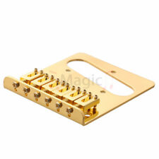 Gold TELE GUITAR BRIDGE 6 FLATE STYLE SADDLES - PARTS FOR FENDER TELECASTER