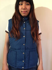 VINTAGE NORTH FACE BLUE PUFFER DOWN VEST MADE IN USA WOMAN'S LARGE!