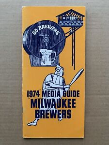 1974 Milwaukee Brewers Official (EX+) Media Guide. Robin Yount Rookie Season.