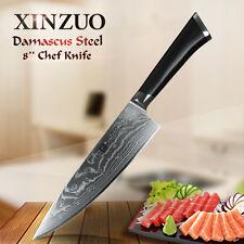 XINZUO 8 inch chef knife Japanese Damascus steel kitchen knife slice knife