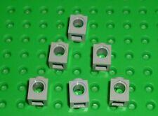 LEGO - TECHNIC - LIGHT GREY - BRICK, 1 x 1 with Hole x 6 (6541) TK66