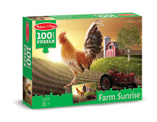 SUNRISE FARM JIGSAW PUZZLE~100 pcs~ Melissa and & Doug 8943