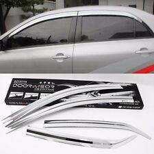 Chrome Window Visor Sun Guard Wind Rain Shield For Toyota Corolla 2011~2013
