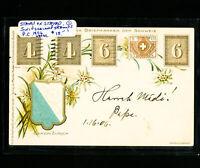 Switzerland 1906 Stamp On Stamp Postcard