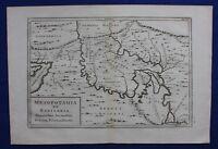 Original antique map IRAN, IRAQ, 'MESOPOTAMIA ET BABYLONIA', Cellarius, 1799