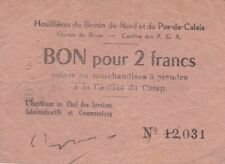 1580 - Houillères du Bassin du Nord et du Pas-de-Calais, Bruay, Bon pour 2