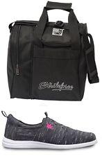 Womens Brunswick ENVY Bowling Shoes Charcoal Sizes 6-11 & Black 1 Ball Bag