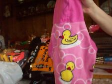 Dog Coat Small Handmade Duck Pink and Yellow 12 in. long New