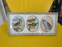 Vintage Gold Metal Stamped Ornate  Picture Collage Frame Art Photo 3 Oval May