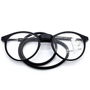 Foldable Magnetic Reading Glasses Adjustable Hanging Neck Folding Glasses Front-