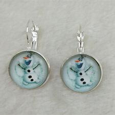 FROZEN Tibet silver Glass  Earrings ROYAL PRINCESS Xuebao gift