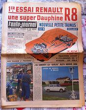 b)L'AUTO-JOURNAL 302 du 7/1962; Essai Renault R8/ Giulia Alfa Roméo/ Girostabil