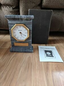 Classic Marble Benchmark Mantle Clock No 9022, The Luxor From Schwan's