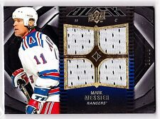 MARK MESSIER 2009-10 UD BLACK DIAMOND QUAD GAME USED JERSEYS#/99