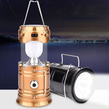 Portable Outdoor Solar Rechargeable Camping Lantern Light LED Hand Lamp 1PCS