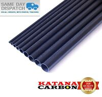 1 x OD 8mm x ID 6mm x 800mm (0.8 m) 3k Carbon Fiber Tube (Roll Wrapped) Fibre