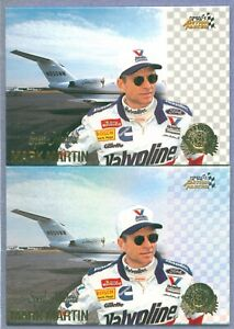 MARK MARTIN 1996 AP Credentials Silver Speed & Base # 62 & 8 of 10 Parallel