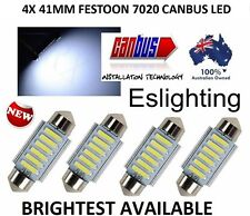 4 X 12V 41MM 6 LED 7020 FESTOON CAR UTE 4WD INTERIOR DOME MAP LIGHT BULB GLOBE