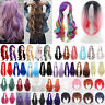 Women Lady Hair Wigs Synthetic Long Straight Curly Wavy Cosplay Fashion Wig Heat