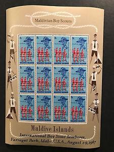 MALDIVE ISLANDS 1967 BOY SCOUTS SOUVENIR SHEET 3L MINT NEVER HINGED MNH
