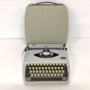 Vintage 1970's Adler Tippa Grey Typewriter #404