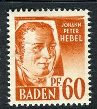 GERMANY ALLIED OCC BADEN;   1947 early pictorial Mint MNH unmounted 60pf.