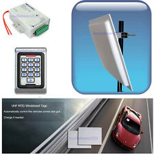 5-7m Long Range UHF RFID Reader Car Access Control Kit Controller Windshield Tag