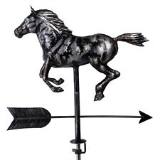 Hand Crafted 3D  Patina Finish Horse Weathervane with Free Roof Mounting Outdoor