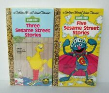 LOT OF 2 GOLDEN BOOK VIDEO SESAME STREET STORIES VHS TAPE Brand New Sealed