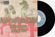 "APHRODITE'S CHILD LET ME LOVE / MARIE JOLIE RARE 1970 RECORD YUGOSLAVIA 7"" PS"